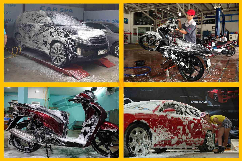 cách rửa xe máy sạch nhất